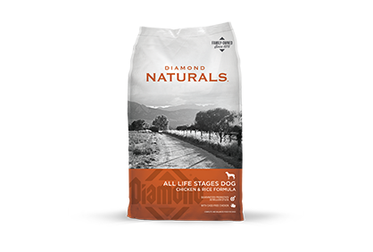DIAMOND NATURALS CHICKEN & RICE FORMULA 40LB