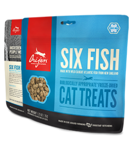 ORIJEN FREEZE DRIED SIX FISH CAT TREATS