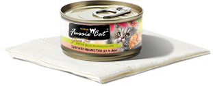 FUSSIE CAT TUNA WITH PRAWNS 2.82OZ