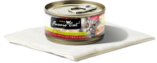 FUSSIE CAT TUNA WITH SALMON 2.82OZ