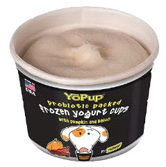 YOPUP PROBIOTIC PACKED FROZEN YOGURT CUPS PUMPKIN & BACON