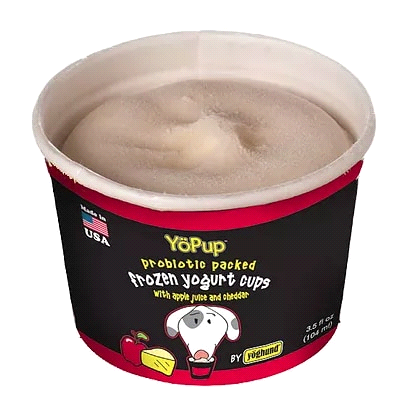 YOPUP PROBIOTIC PACKED FROZEN YOGURT CUPS APPLE & CHEDDAR