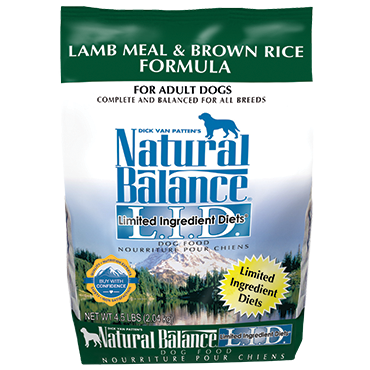 NATURAL BALANCE L.I.D. LAMB MEAL & BROWN RICE FORMULA