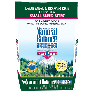 NATURAL BALANCE L.I.D. LAMB MEAL & BROWN RICE FORMULA SMALL BREED BITES