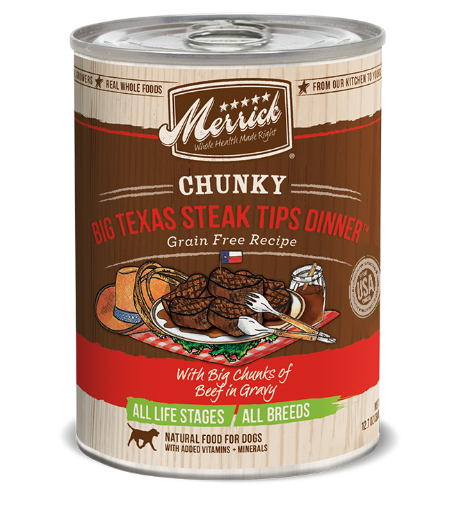 MERRICK CHUNKY BIG TEXAS STEAK 13OZ