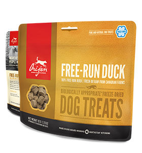 ORIJEN FREEZE DRIED FREE-RUN DUCK DOG TREATS