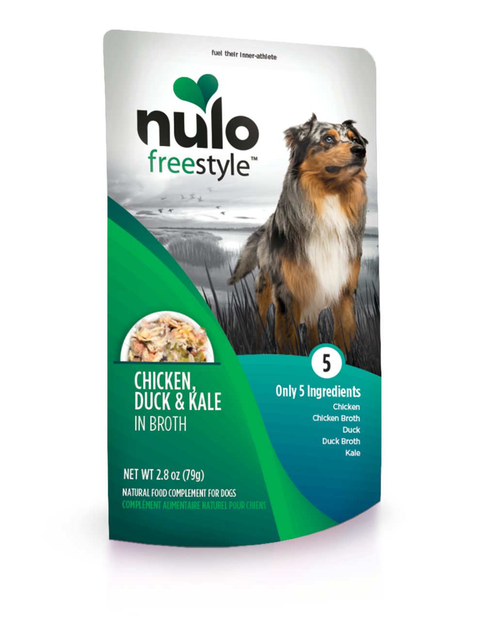 NULO FREESTYLE POUCHES FOR DOGS CHICKEN, DUCK, & KALE