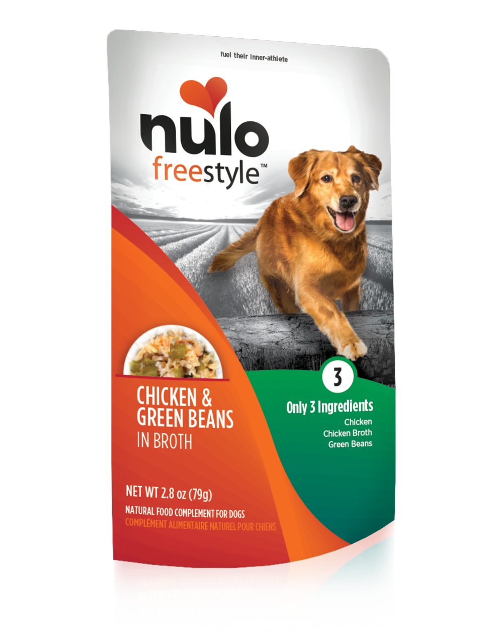 NULO FREESTYLE POUCHES FOR DOGS CHICKEN & GREEN BEANS