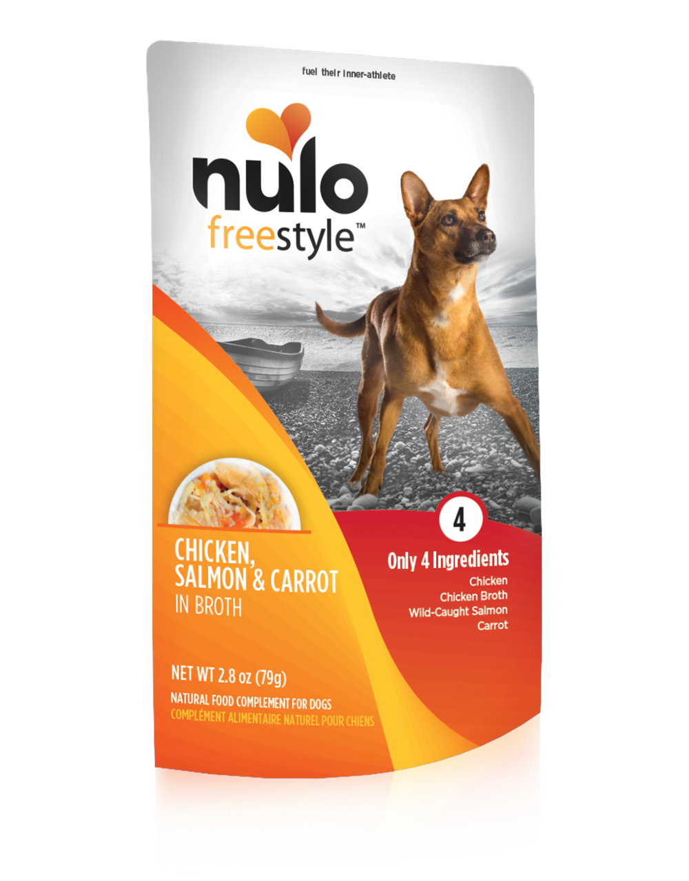 NULO FREESTYLE POUCHES FOR DOGS CHICKEN, SALMON, & CARROT