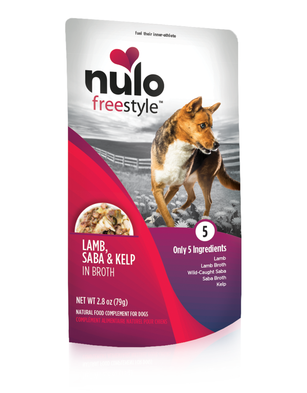 NULO FREESTYLE POUCHES FOR DOGS LAMB, SABA, & KELP