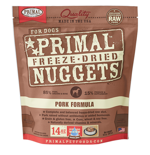 PRIMAL DOG FREEZE DRIED PORK NUGGETS