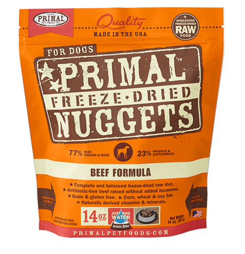 PRIMAL DOG FREEZE DRIED BEEF NUGGETS
