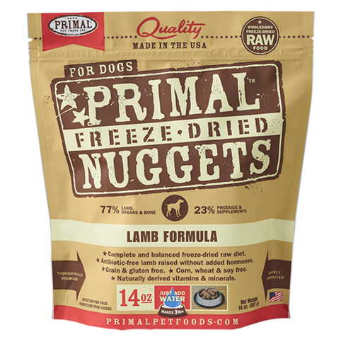 PRIMAL DOG FREEZE DRIED LAMB NUGGETS