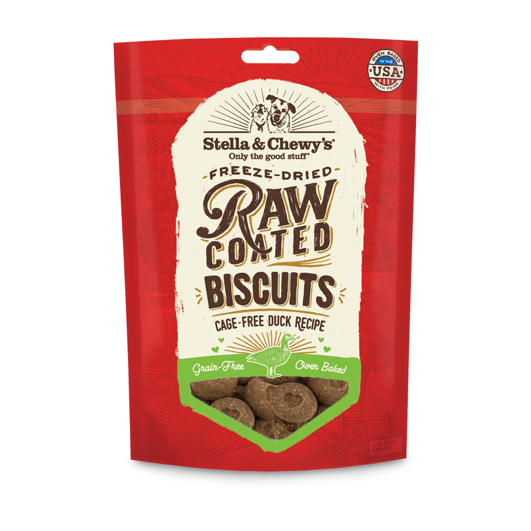 STELLA & CHEWY'S RAW COATED BISCUITS DUCK 90Z