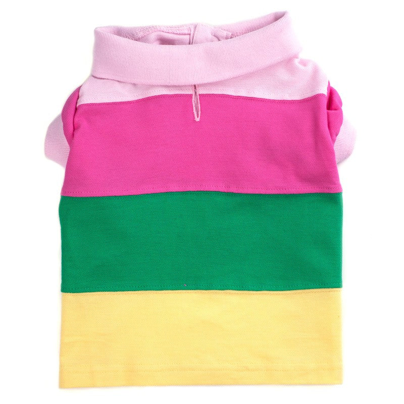 THE WORTHY DOG COLORBLOCK PASTEL POLO SHIRT