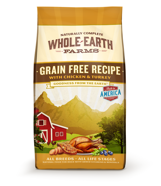 WHOLE EARTH FARMS GRAIN FREE RECIPE WITH CHICKEN & TURKEY