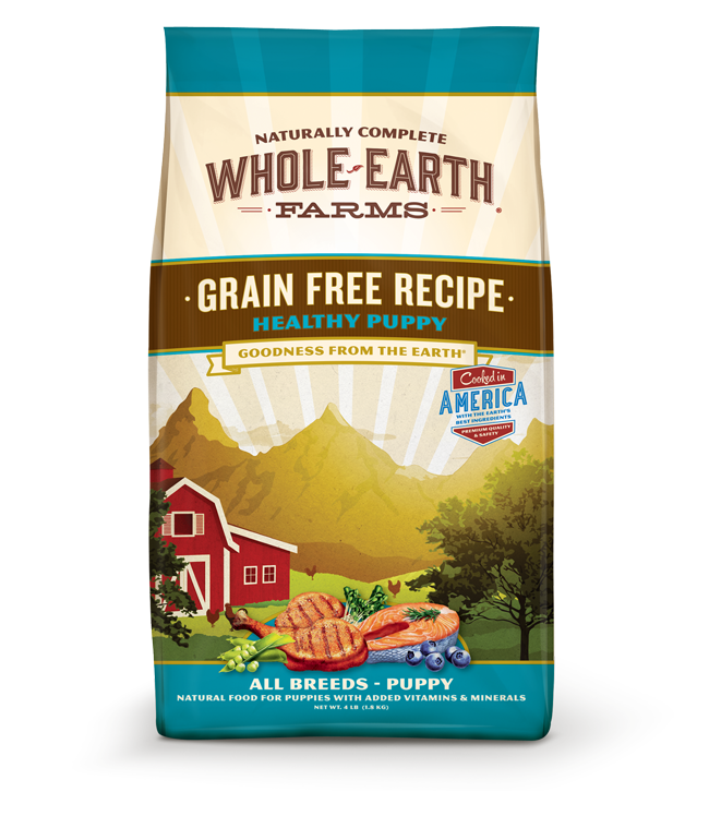 WHOLE EARTH FARMS GRAIN FREE HEALTHY PUPPY RECIPE