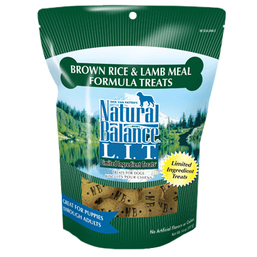 NATURAL BALANCE BROWN RICE & LAMB MEAL FORMULA BISCUITS