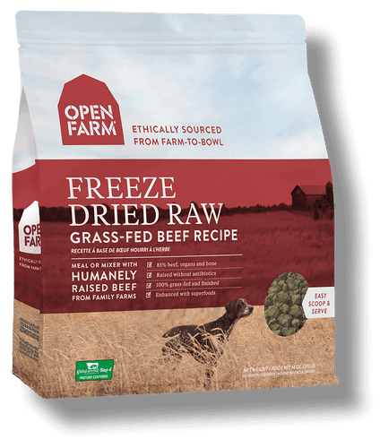 OPEN FARM FREEZE DRIED GRASS-FED BEEF RECIPE 13.5OZ