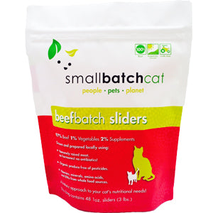 SMALLBATCH CAT RAW BEEF SLIDERS 3LB