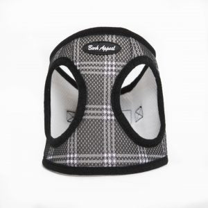 BARK APPEAL EZ WRAP STEP IN HARNESS BLACK PLAID