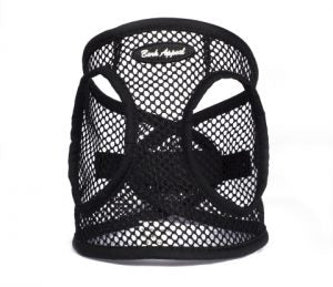 BARK APPEAL EZ WRAP NETTED STEP IN HARNESS BLACK