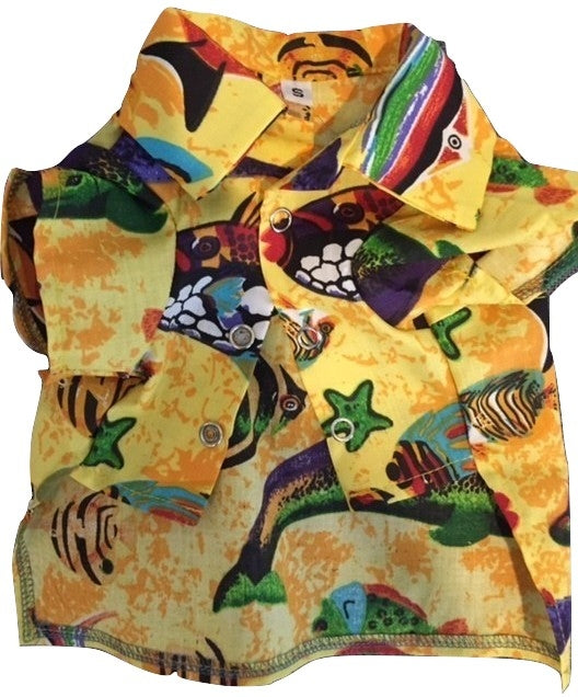 CANINE BRANDS HAWAIIAN SHIRT YELLOW