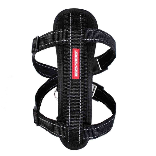EZY DOG CHEST PLATE HARNESS BLACK