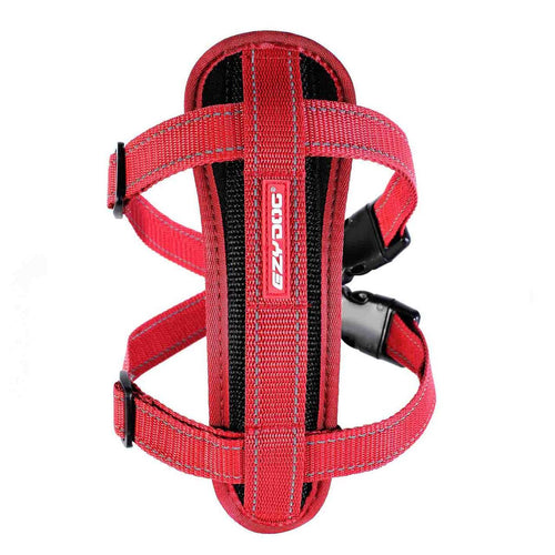 EZY DOG CHEST PLATE HARNESS RED