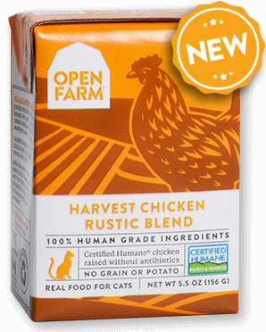 OPEN FARM HARVEST CHICKEN RUSTIC BLEND FOR CATS 5.5OZ