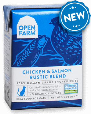 OPEN FARM CHICKEN AND SALMON RUSTIC BLEND FOR CATS 5.5OZ