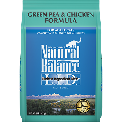 NATURAL BALANCE L.I.D. CAT GREEN PEA & CHICKEN FORMULA