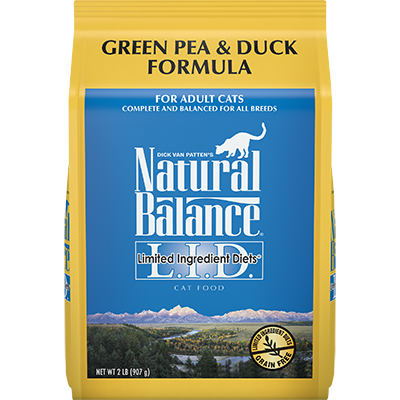 NATURAL BALANCE L.I.D. CAT GREEN PEA & DUCK FORMULA