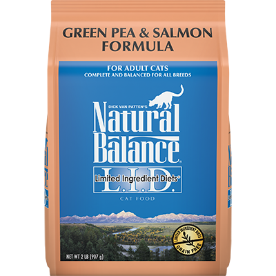 NATURAL BALANCE L.I.D. CAT GREEN PEA & SALMON FORMULA