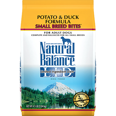 NATURAL BALANCE L.I.D. POTATO & DUCK FORMULA SMALL BREED BITES
