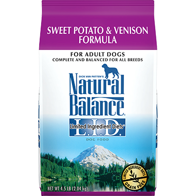 NATURAL BALANCE L.I.D. SWEET POTATO & VENISON FORMULA