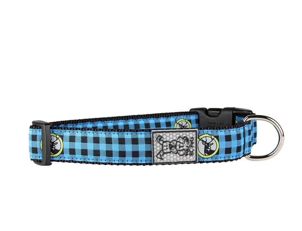 RC PET CLIP COLLAR BLUE BUFFALO PLAID