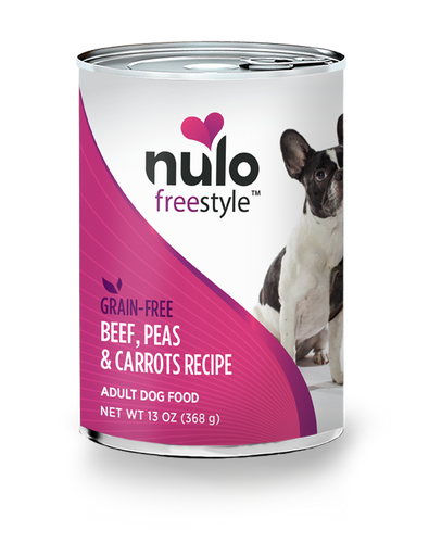 NULO FREESTYLE DOG BEEF, PEAS & CARROTS 13OZ CAN