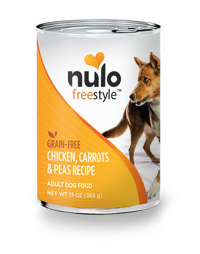 NULO FREESTYLE DOG CHICKEN, CARROTS & PEAS 13OZ CAN