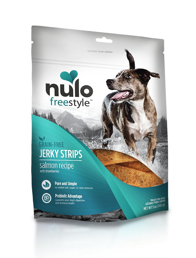 NULO JERKY STRIPS SALMON 5OZ