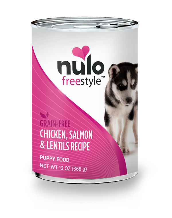 NULO FREESTYLE DOG CHICKEN, SALMON & LENTILS FOR PUPPIES 13OZ CAN
