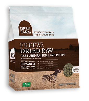 OPEN FARM FREEZE DRIED PASTURE- RAISED LAMB RECIPE 13.5OZ