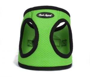 BARK APPEAL EZ WRAP STEP IN HARNESS LIME GREEN