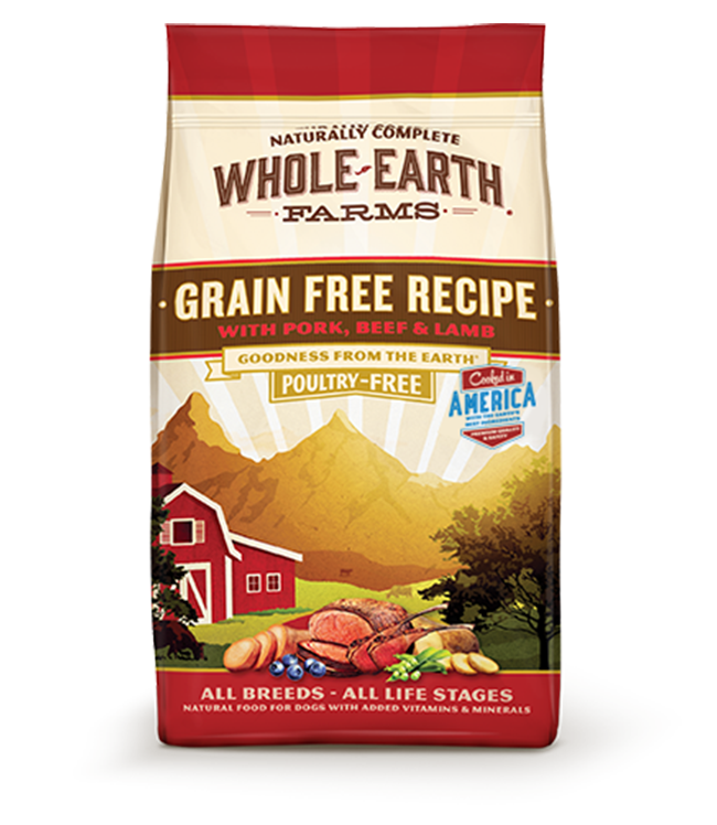 WHOLE EARTH FARMS GRAIN FREE RECIPE WITH PORK, BEEF & LAMB