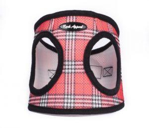 BARK APPEAL EZ WRAP STEP IN HARNESS RED PLAID