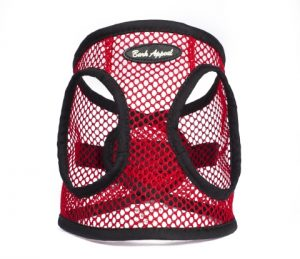 BARK APPEAL EZ WRAP NETTED STEP IN HARNESS RED
