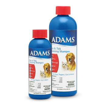ADAMS FLEA & TICK CLEANSING SHAMPOO FOR DOGS AND CATS