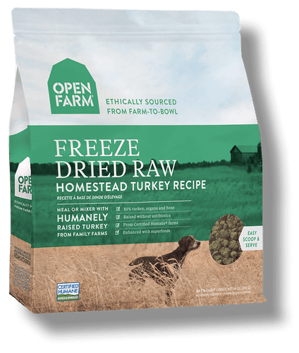 OPEN FARM FREEZE DRIED HOMESTEAD TURKEY RECIPE 13.5OZ