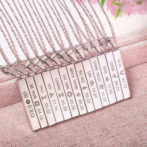 KPOP EXO EX'ACT Monster Lucky One Chain Necklace -  Necklace - GALVATION
