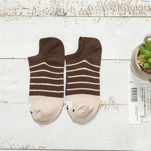 Warm comfortable cotton girl's socks - Cute Ankle low female Socks -  socks - GALVATION